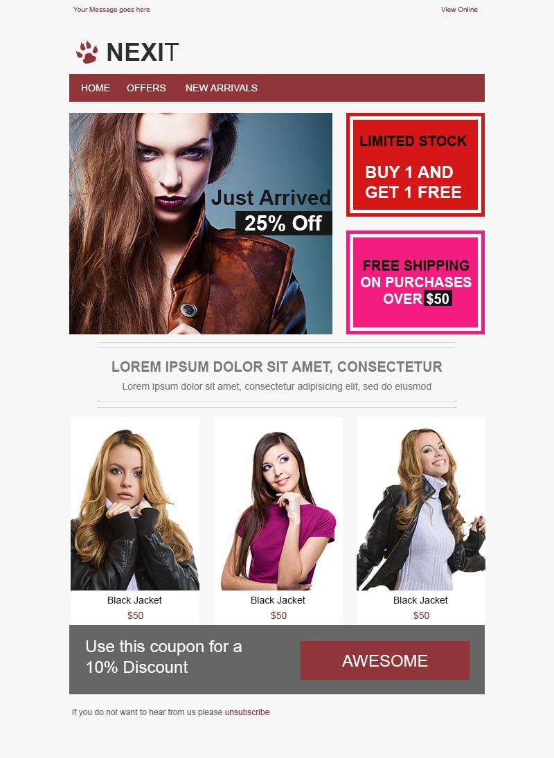 Plantillas Email Responsive Gratis   Diseñadora Web Freelance ...