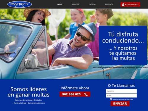 Diseño web de Multrafic