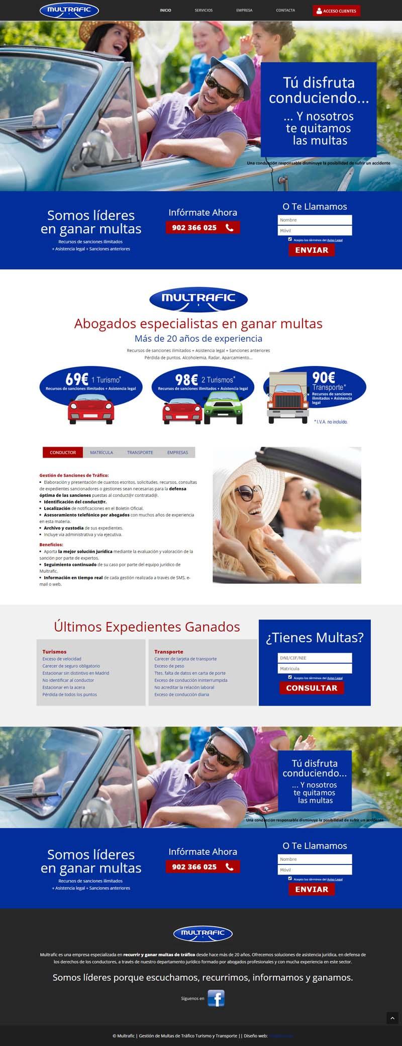Diseño web y landing page original.