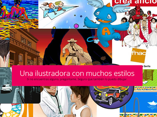 Diseño web personal para mi faceta profesional como ilustradora.