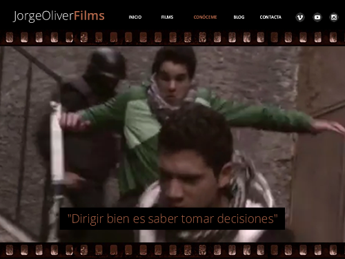 Diseño web de Jorge Oliver Films