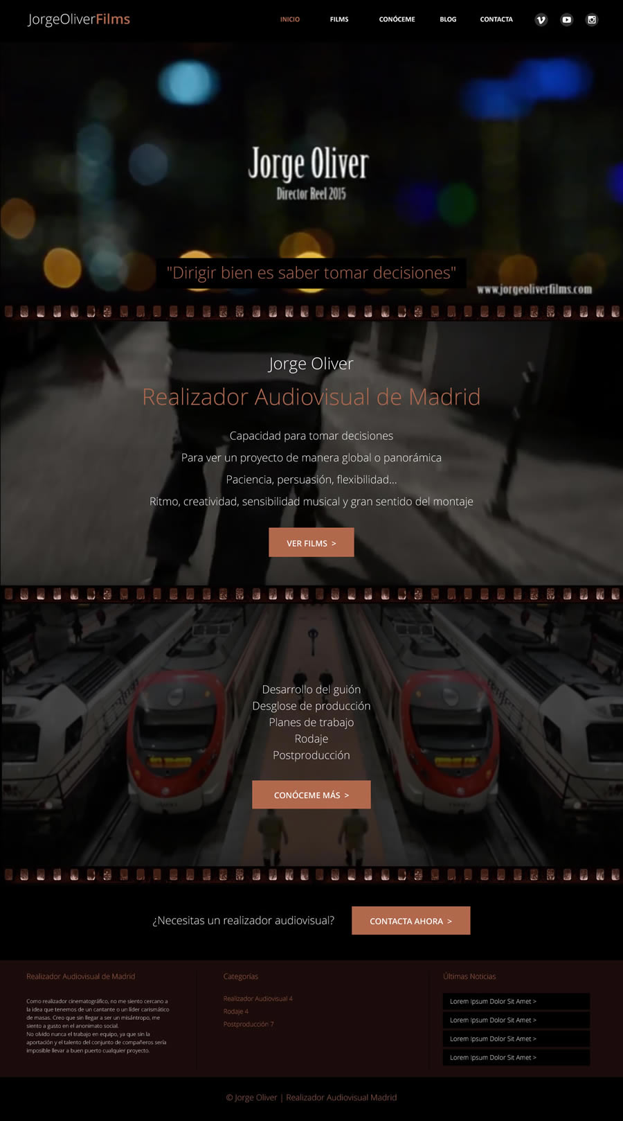 Diseño web realizador audiovisual